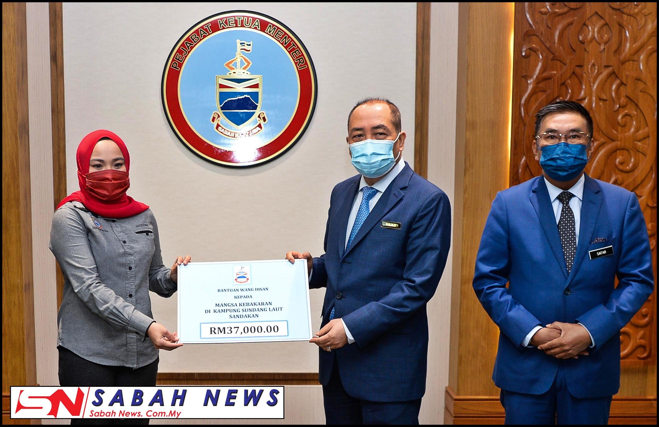 Kerajaan Negeri Serah Sumbangan Wang Ihsan RM37,000 Kepada ...